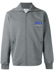 Kenzo Come Out Track Jacket Men Cotton Polyester L Grey