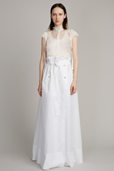 Veronique Branquinho Frill Waist Tie Skirt Bianco