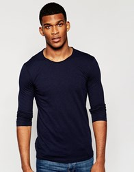 United Colors Of Benetton Long Sleeve Top Blue