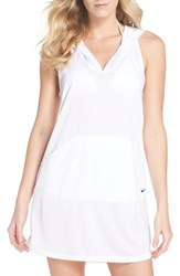 Nike Hooded Cover Up Dress White