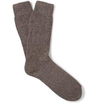 Anderson And Sheppard Wool Blend Socks Brown