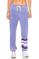Sundry Classic Striped Sweatpants Purple