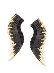 Mignonne Gavigan Long Wings Beaded Earrings Black
