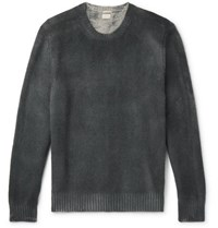 Massimo Alba Watercolour Dyed Cashmere Sweater Anthracite