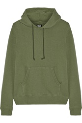 Nlst Classic Popover Cotton Terry Hooded Top Green