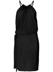 Lost And Found Ria Dunn Side Tie Halterneck Dress Black
