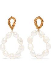 Alighieri Gold Plated Pearl Earrings One Size