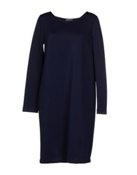 Stefano Mortari Short Dresses Dark Blue