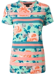 Marc By Marc Jacobs Floral Print T Shirt Pink And Purple