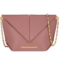 Roland Mouret Classico Origami Lambskin Cross Body Bag Old Pink