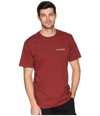 Filson Short Sleeve Outfitter Graphic T Shirt Burnt Red The Best T Shirt