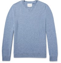 Derek Rose Finley Melange Cashmere Sweater Light Blue