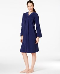 Miss Elaine Long Sleeve Short Robe Navy