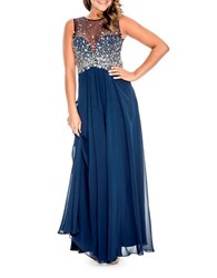 Decode 1.8 Plus Beaded Prom Gown Navy