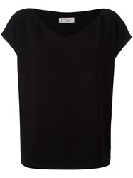 Alberto Biani V Neck Top Black