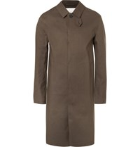 Mackintosh Classic Waterproof Bonded Cotton Raincoat Brown