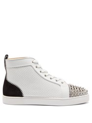 Christian Louboutin Lou Spike Embellished High Top Trainers Multi