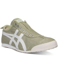 Asics Men's Onitsuka Tiger Mexico 66 Slip On Casual Sneakers From Finish Line Winter Pear White