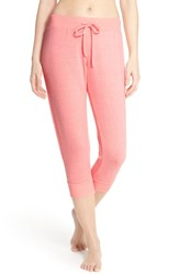 Women's Make Model Cozy Brushed Hacci Jogger Pants Pink Flamingo