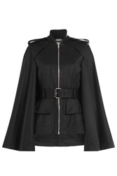 Alexander Mcqueen Wool Jacket With Flared Sleeves Black