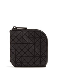 Issey Miyake Triangular Panels Zip Around Wallet Black