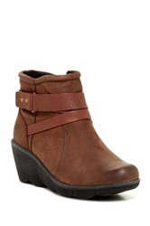 Cobb Hill Revhex Leather Wedge Bootie Brown