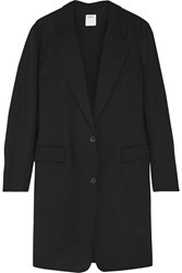 Dkny Stretch Wool Twill Coat Black