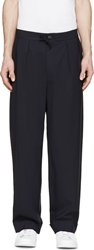 Paul Smith Navy Pleated Pillar Suit Trousers