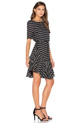 Shona Joy Isabelle Ruffle Shift Dress Black