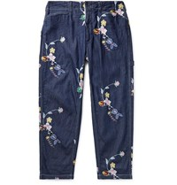 Engineered Garments Cotton Chambray Trousers Blue