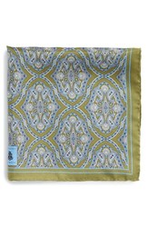 Men's Robert Talbott Medallion Silk Pocket Square
