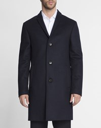 Calvin Klein Black Wool And Cashmere Coat