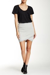 Pam And Gela Crossover Mini Skirt Gray