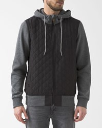Element Dark Grey And Black Padded Tadler Zipped Sweater