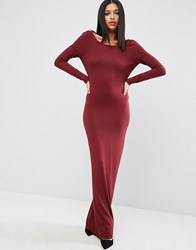 Asos Basic Day To Evening Maxi Dress Oxblood Red