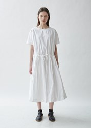 Casey Casey Cotton Ruched Dress White