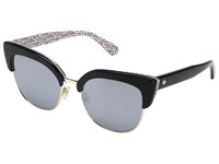Kate Spade Karri S Black Pattern Red Black Mirror Lens Fashion Sunglasses Gray