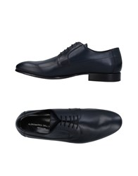 Alessandro Dell'acqua Lace Up Shoes Dark Blue