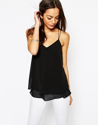 New Look Double Strap Cami Black