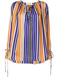 Mulberry Striped Blouse Multicolour