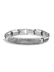 David Yurman Meteorite Collection Sterling Silver Fused Id Bracelet