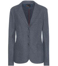 Loro Piana London Bridge Cashmere Blazer Blue