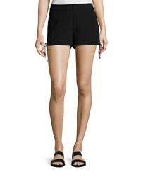 Haute Hippie The Getaway Lace Up Side Shorts Black