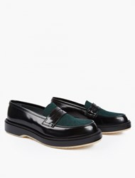 Adieu Contrasting Panelled Type 5 Loafers Black
