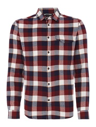 Army And Navy Clifton Long Sleeved Check Shirt Red