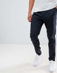 Selected Homme Trouser With Pleated Waistband In Tapered Fit Grey