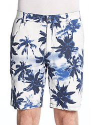 Madison Supply Palm Tree Print Shorts Indigo