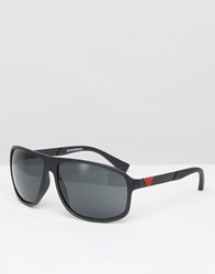 Emporio Armani Square Sunglasses Black