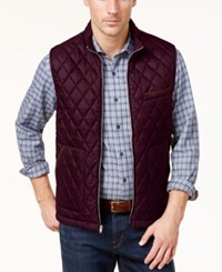 Tasso Elba Men's Quilted Front Vest Created For Macy's Port Combo