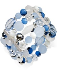 Styleandco. Style And Co. Silver Tone Ice Blue Four Row Bracelet